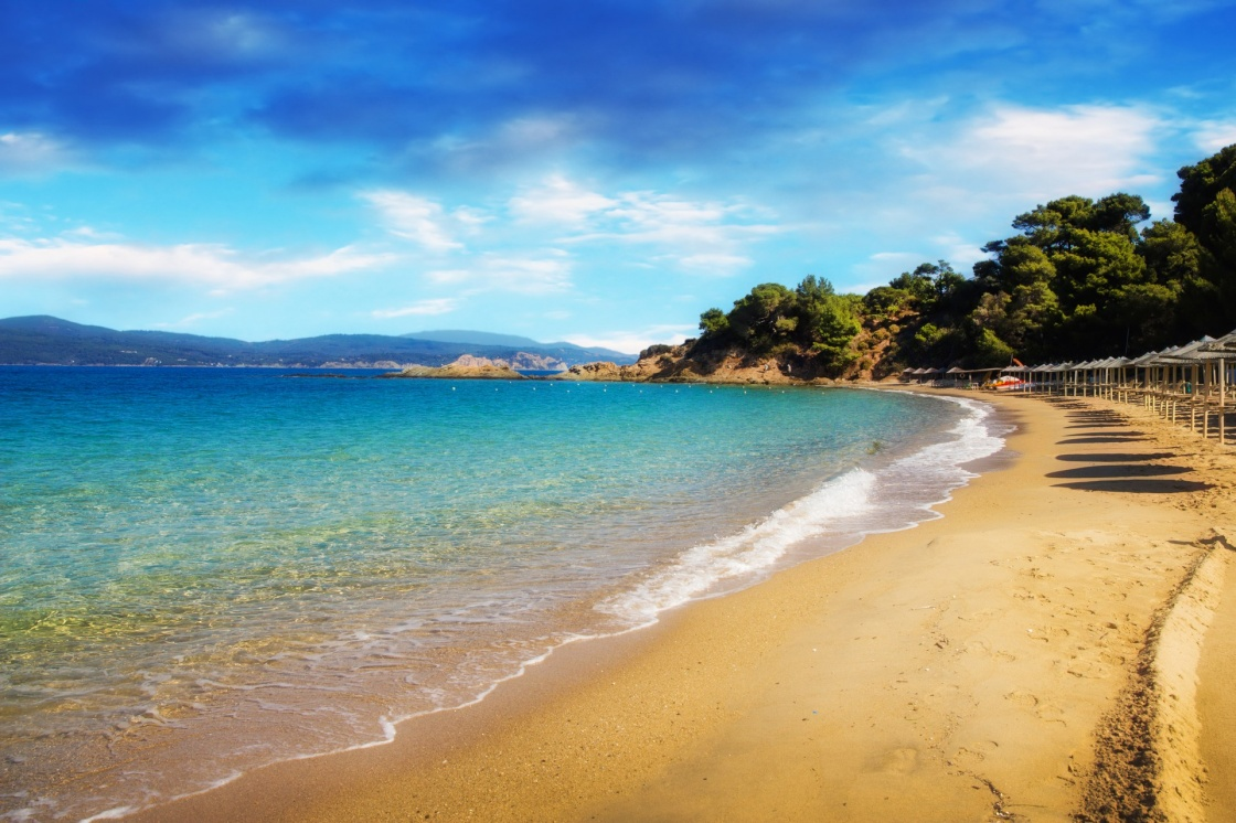 Banana beach, Skiathos, Greece