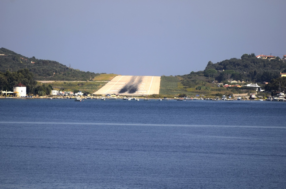 'Greece, runway of Skiatos Island' - Skiathos